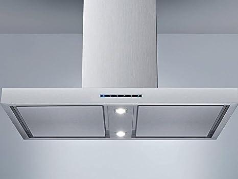 Airforce Milo (ext. Motor campana) Isla Acero Inoxidable//90 cm/LED de iluminación/Borde aspiración: Amazon.es: Grandes electrodomésticos