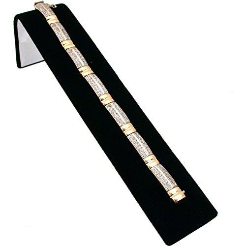 FindingKing Black Velvet Bracelet Display Ramp Jewelry Showcase 8