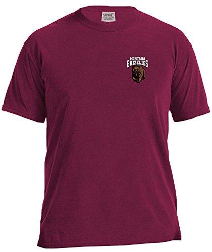 NCAA Montana Grizzlies Simple Circle Comfort Color Short Sleeve T-Shirt, -