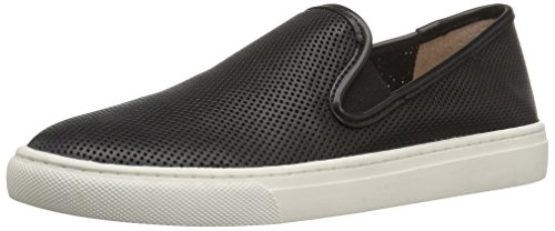 206 Collective Womens Cooper Perforated Leather Slip Fashion Sneaker, Black, 7.5 B US