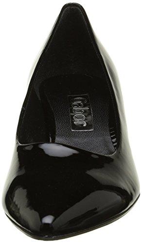 Gabor Shoes Gabor Fashion, Zapatos de Tacón para Mujer Negro (schwarz +Absatz)