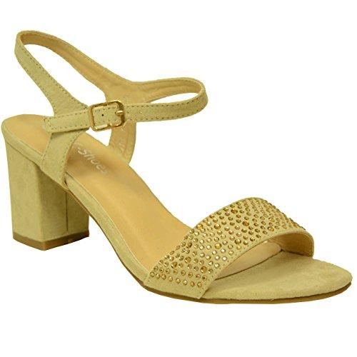 cheville de Cucu beige Beige femme Bride Fashion A0S4nxwqvt