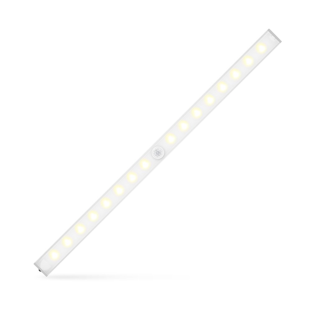 INLIFE Wireless LED Light Under Cabinet Light Motion Sensor Light with Adjustable Color Temperature for Closet, Kitchen Cabinet, Stair