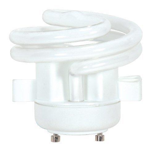 Satco S8227 13 Watt (60 Watt) 850 Lumens Squat Spiral CFL Soft White 2700K GU24 Base Light Bulb by Satco ()