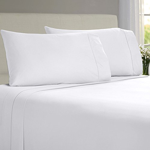 Linenwalas Todays Deal Bamboo Sheets – 100% Organic Softest Moisture Wicking Deep Pocket Bedding | Silk Like Soft, Wrinkle Free Cooling Luxury Hotel Bed Sheet Set (King Size, White)