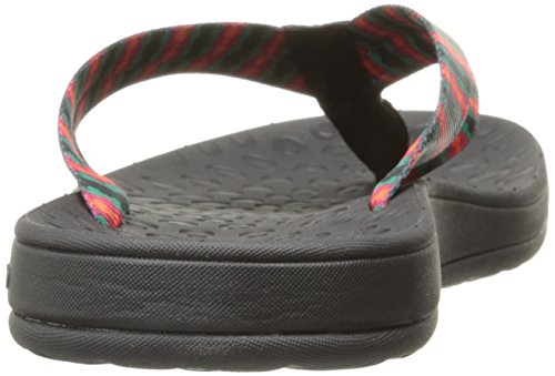 Bogs Womens Hudson Webbing Stripes Sandal Black/Multi LegBv