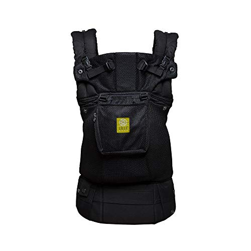 LÍLLÉbaby The Complete Airflow SIX-Position 360° Ergonomic Baby & Child Carrier, Black - Cotton (Best Baby Carrier For 3 Month Old)
