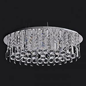 QIANG Clear Hand-cut Crystal Gives Contemporary Pendant Light Sophisticated Look Full of Shine