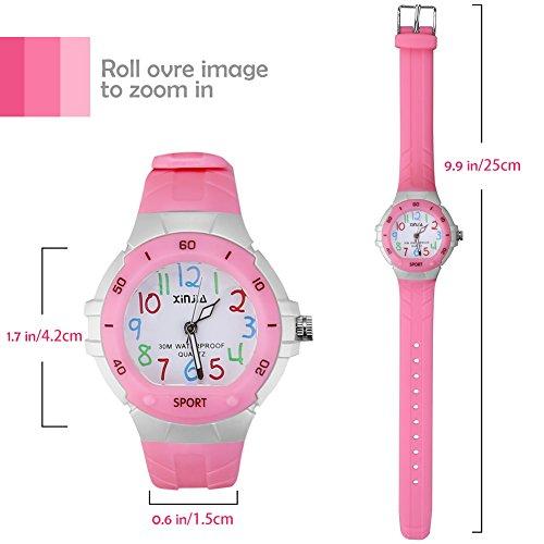 116 Kids Watch 30M Waterproof,Children Cartoon Wristwatch Child Silicone Wrist Watches Gift for Boys Girls Little Child – PerSuper (Pink) by PERSUPER (Image #1)