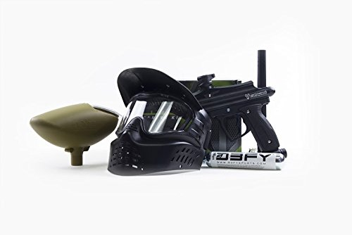 D3fy Conquest Starter Pack Black Conquest Marker, Gen-X XVSN Goggles, 200 Rd Hopper and CO2