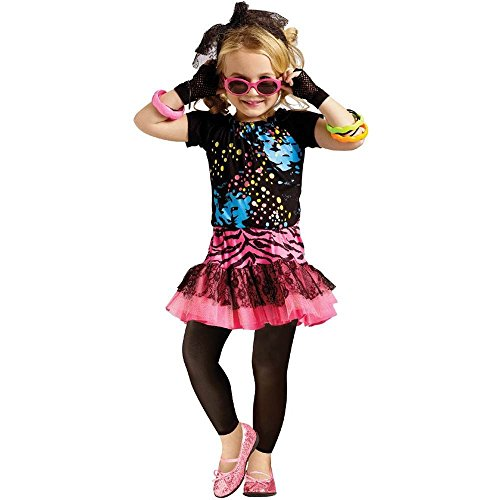 Decade Halloween Costume Ideas (Girls 80's Pop Star Decade Halloween Costume Large 4-6)