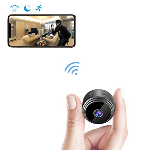 (Spy Camera Wireless Hidden WiFi Camera AREBI HD 1080P Mini Camera Portable Home Security Cameras Covert Nanny Cam Indoor Video Recorder Small Camcorder with Motion Activated/Night Vision A10 Plus)