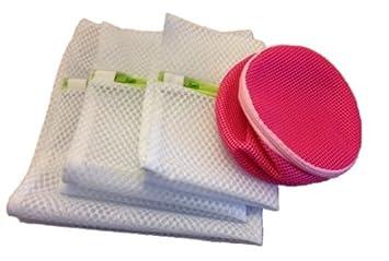 Paquete de 4 Bolsas de red con cremallera para lavadora ...
