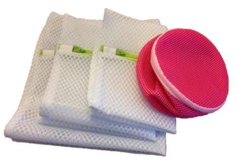 Paquete de 4 Bolsas de red con cremallera para lavadora, diseñado ...