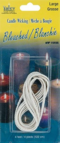 Yaley 4-Feet Candle Wicking Bleached, Large