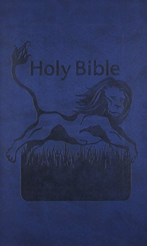 Holy Bible: King James Version, Blue, Imitation Leather, Kids Bible