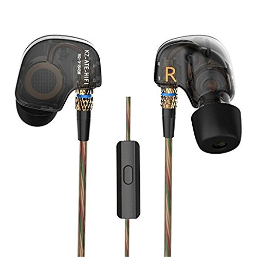 Kz ATE Copper Driver Ear Hook HiFi in Ear Earphone Sport Headphones for Running with Foam Eartips with Microphone (Best Hifi Under 500)