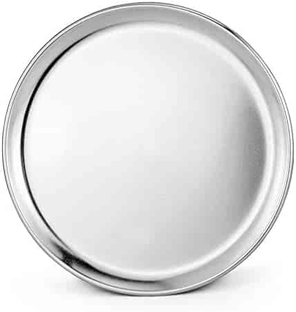 New Star Foodservice 50738 Pizza Pan/Tray, Wide Rim, Aluminum, 10 Inch