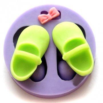 Molde de silicona forma de zapatitos y moñito. Para pastel, pasta de azucar, fondant, chocolates: Amazon.es: Hogar