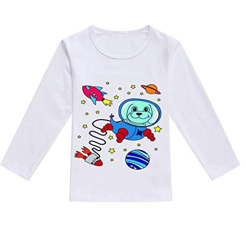 WOCACHI Toddler Baby Girls Clothes, Toddler Baby Kids Boys Girls Spring Cartoon Print Tops T-Shirt Casual Clothes Back to School Easter Egg Costume Parade Bunny Lily Eggs Roll Cushaw Basket]()