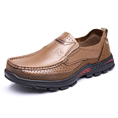 La Personalidad 43 Redonda Aire Para Libre Los Caqui Tamaño color Masculina Cabeza on Color Caqui Fuweiencore Zapatos Cuero Al Hombres Hombres De Cómodos Casuales Slip Holgazanes wSawOqZpx