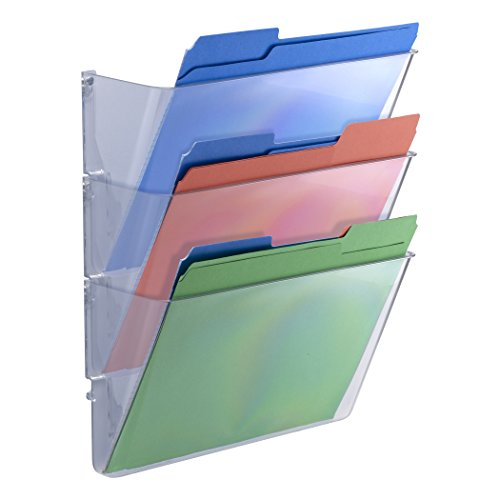 - Officemate Wall Files, Letter/A4 Size, Clear, 3 Pack (21424)