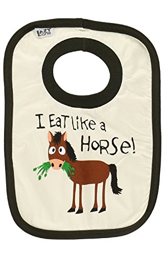 (I Eat Like A Horse! Baby Animal Print Bibs One Size by LazyOne | Cute Baby Shower Gifts (ONE)