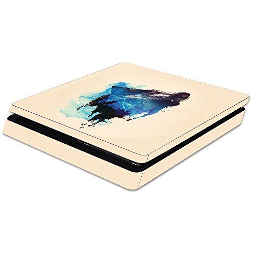 MightySkins Skin Compatible with Sony PS4 Slim Console - Lone Wolf | Protective, Durable, and Unique Vinyl Decal wrap Cover | Easy to Apply, Remove, and Change Styles | Made in The USA