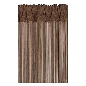Loom Cotton Brown Charlston Curtain, LM0537