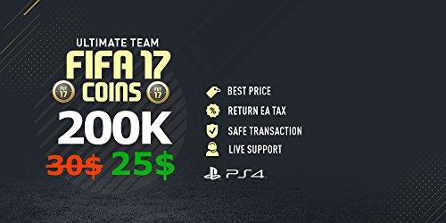FIFA 17 - FUT - ULTIMATE TEAM - PS4 - 200K Coins / Münzen / Pièces / Monete (Fut Coins)