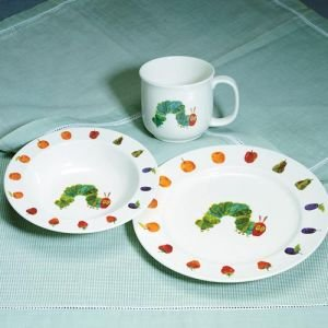 Lunt Silversmiths Very Hungry Caterpillar by Eric Carle 3-Piece Stoneware Set & Amazon.com: Lunt Silversmiths Very Hungry Caterpillar by Eric Carle ...