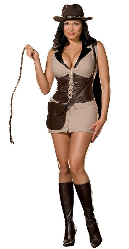 Treasure Hunters Costume (Womens 1X/2X (16-18) Exotic Treasure Hunter Costume)