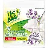 Pyrel - Sachets anti-mites, à l'huile essentielle de lavandin - 24 pièces
