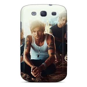 AlissaDubois Samsung Galaxy S3 Shock-Absorbing Hard Cell-phone Case Custom HD Boys Like Girls Band Image [lbw8473UBqj]