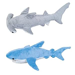 Adventure planet set of 2 plush 13 sharks for Life size shark plush