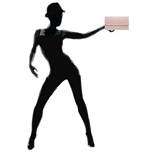De Enveloppe Caspar Cuir Véritable Imprimé Tl722 Soirée Femme En Clutch pochette Avec Rose Croco Pour aqzZ8wx
