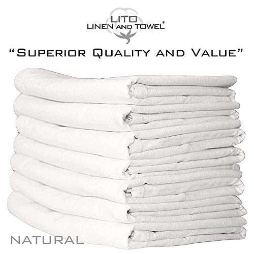 Cotton Kitchen Napkin Flour Sack Towel In White 33 Inch X