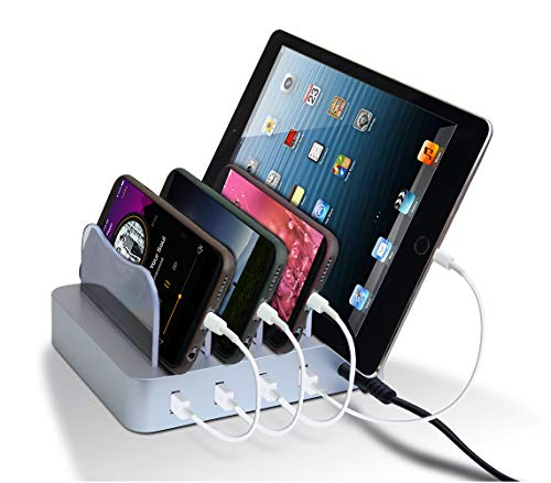 Cheap USB Charging Station - Charging Dock - 4-Port - Fast Charging Station - iPad Docking Station - Smart Charging Station Dock - Multi Charging Station for Cell Phones and Tablets ipad docking stations