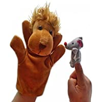 Kuhu Creations® Lion and Mouse Famous Story Telling Hand and Finger Puppets.