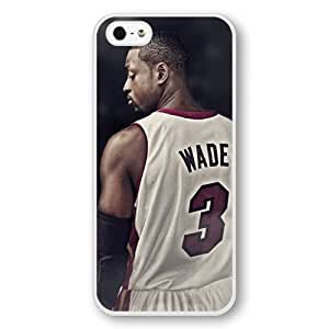 Onelee(TM) - DIY Personalized White Hard Plastic For Iphone 6 Phone Case Cover NBA Superstar Miami Heat Dwyane Wade For Iphone 6 Phone Case Cover Only Fit For Iphone 6 Phone Case Cover