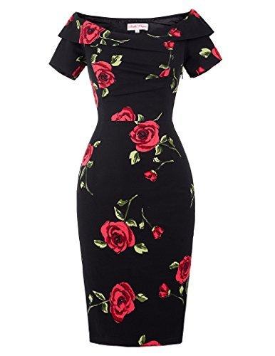 Belle-Poque-Womens-Off-Shoulder-Vintage-Bodycon-Dresses-Party-Cocktail-Dress