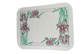 """Dinex DX5081E202733 Paper Iris Garden Tray Cover with Straight Edge/Small Corner, 18"""" Length x 11"""" Width, Size E (Case of 1000)"""