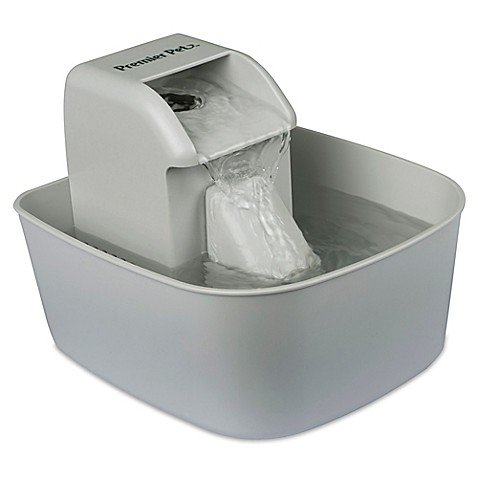 Premier Pet Fountain Feeder in White by Premier-Pet-Products
