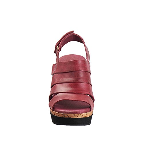 Antelope Womens 618 Leather Banded Stripe Sandals Bordeaux mNXb53jqXe