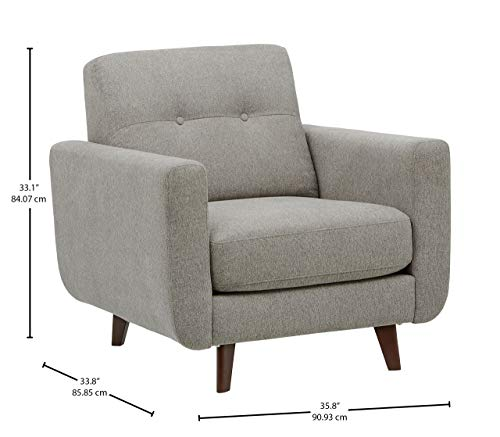 Rivet Tufted Accent Chair, Pebble - Sloane Mid-Century Modern - 4
