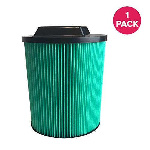 Think Crucial Replacement for Ridgid VF6000 Filter Cartridge Fits 6-20 Gallon Wet & Dry Vacuums, Compatible with Part # VF6000, Washable & Reusable