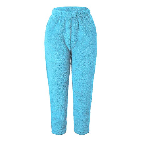 Fitness Donna Pelliccia Pantaloni Styledresser Vello Caldo Ghette Sport Blu Inverno Yoga Da Donne Gambale Leggings qACw0H