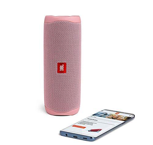 JBL Flip 5 Waterproof Portable Wireless Bluetooth Speaker Bundle with USB 2.0 Bluetooth Adapter - Pink