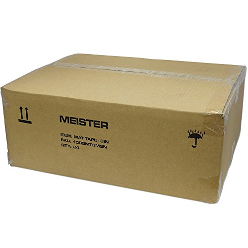 (Meister Premium Mat Tape for Wrestling, Grappling and Exercise Mats - Clear - 3