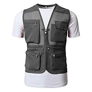 H2H Mens Active Work Utility Hunting Travels Sports Mesh Vest with Pockets